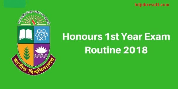 NU Honours 1st Year Exam Routine