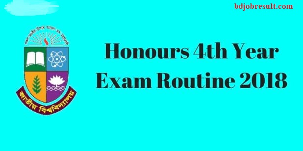 National University Honours 4th Year Exam Routine