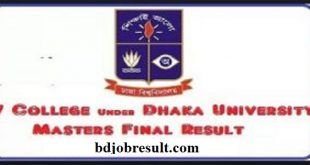 DU 7 College Masters Result